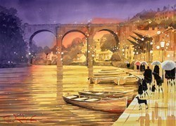 Moored for the Night by Peter J Rodgers -  sized 28x20 inches. Available from Whitewall Galleries