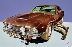 Aston Martin V8 Vantage Series 111 by Roz Wilson -  sized 36x24 inches. Available from Whitewall Galleries