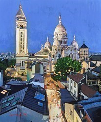Montmartre, Paris by Stephen Collett -  sized 20x24 inches. Available from Whitewall Galleries