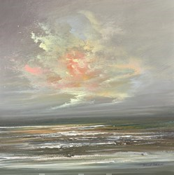 Calmer Seas III by Philip Raskin -  sized 12x12 inches. Available from Whitewall Galleries