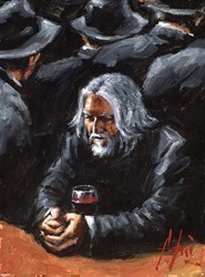 Study X Man At the Bar by Fabian Perez -  sized 9x12 inches. Available from Whitewall Galleries