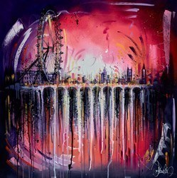 Skyline Reflections IV by Samantha Ellis -  sized 39x39 inches. Available from Whitewall Galleries