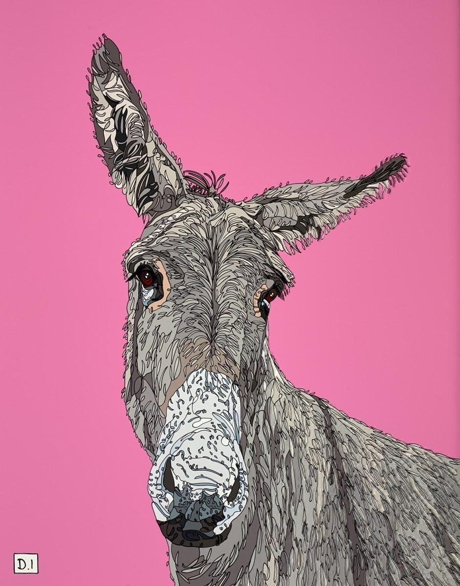 Donkey on Pink