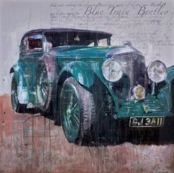 Blue Train Bentley by Markus Haub -  sized 47x47 inches. Available from Whitewall Galleries