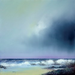 Rolling Surf by Barry Hilton -  sized 24x24 inches. Available from Whitewall Galleries
