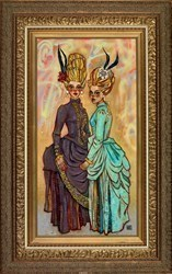 The Gilded Cage by Todd White - Original Painting, Canvas on Board sized 19x37 inches. Available from Whitewall Galleries