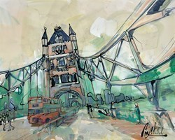 Bridge by Marieke Bekke -  sized 39x32 inches. Available from Whitewall Galleries