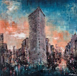 1902 Still Standing, NYC by Mark Curryer -  sized 24x24 inches. Available from Whitewall Galleries