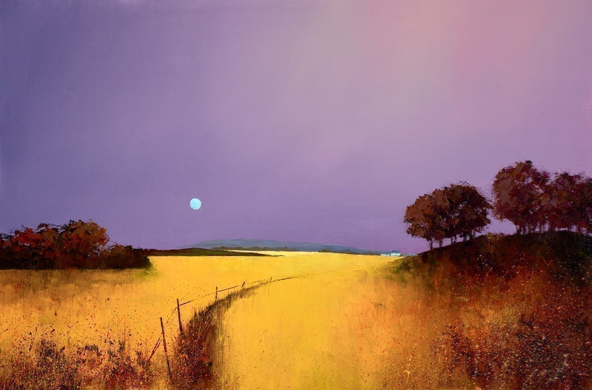 Moonlit Yellows by Barry Hilton -  sized 35x24 inches. Available from Whitewall Galleries