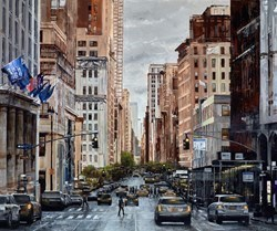 Busy City by Ziv Cooper -  sized 47x39 inches. Available from Whitewall Galleries