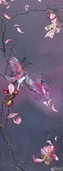 Flying Jewels by Kay Davenport -  sized 18x48 inches. Available from Whitewall Galleries