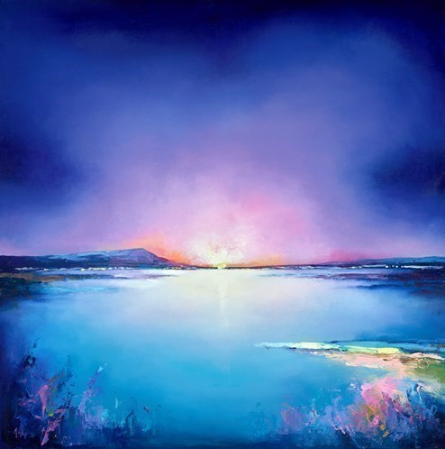 Cold Horizons by Anna Gammans - Original Painting on Stretched Canvas