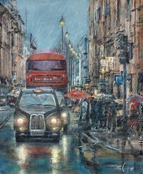 Happy When it Rains by Ziv Cooper -  sized 16x20 inches. Available from Whitewall Galleries