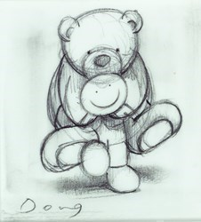Bear Necessities Study by Doug Hyde -  sized 5x5 inches. Available from Whitewall Galleries