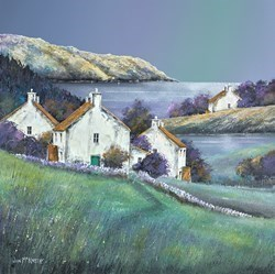 Green Hamlet by John Mckinstry -  sized 20x20 inches. Available from Whitewall Galleries