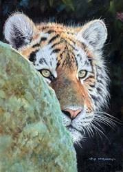 Young Tiger by Pip McGarry -  sized 10x14 inches. Available from Whitewall Galleries