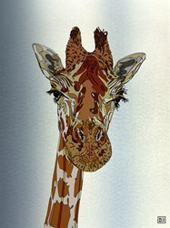 Giraffe II by Dylan Izaak -  sized 24x32 inches. Available from Whitewall Galleries