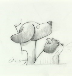 Hitch-Hikers (Study IX) by Doug Hyde -  sized 4x4 inches. Available from Whitewall Galleries