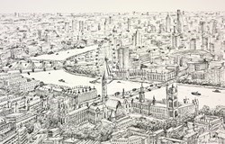 Glorious London Study by Phillip Bissell -  sized 17x11 inches. Available from Whitewall Galleries