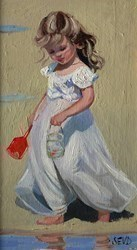 The Big Catch by Sherree Valentine Daines -  sized 7x12 inches. Available from Whitewall Galleries