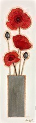 Poppy Vase II by Chloe Nugent -  sized 9x30 inches. Available from Whitewall Galleries