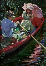 Romance on the River  by Sherree Valentine Daines -  sized 10x14 inches. Available from Whitewall Galleries