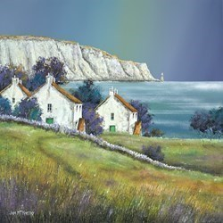 White Cliff Bay by John Mckinstry -  sized 24x24 inches. Available from Whitewall Galleries