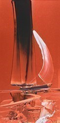 Copper Sailboat II by Duncan MacGregor -  sized 12x24 inches. Available from Whitewall Galleries