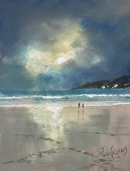 Moonlit Walk by Philip Gray -  sized 6x8 inches. Available from Whitewall Galleries
