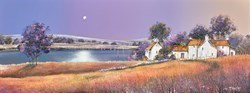 Moonrise At River Farm by John Mckinstry -  sized 32x12 inches. Available from Whitewall Galleries