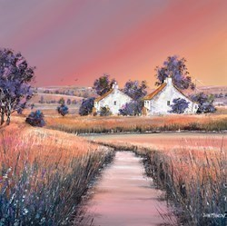 Wetland Dawn by John Mckinstry -  sized 20x20 inches. Available from Whitewall Galleries