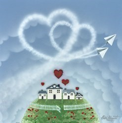 Love Soars by Chloe Nugent -  sized 16x16 inches. Available from Whitewall Galleries