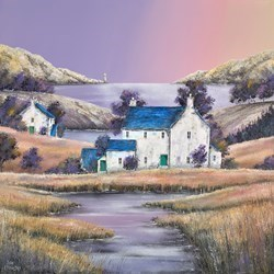 Marsh House by the Water by John Mckinstry - Acrylic sized 24x24 inches. Available from Whitewall Galleries