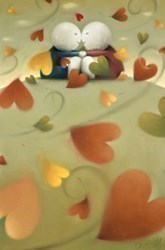 Autumn Love by Doug Hyde - Original Drawing, Paper on Board sized 20x30 inches. Available from Whitewall Galleries
