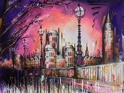 London Life II by Samantha Ellis -  sized 40x30 inches. Available from Whitewall Galleries
