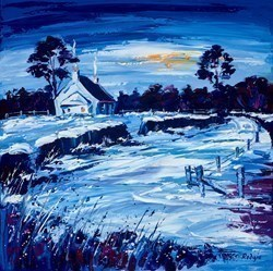 Moonlit Night by Lynn Rodgie -  sized 20x20 inches. Available from Whitewall Galleries