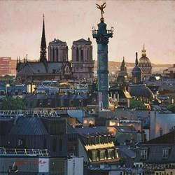 Paris Roof Tops by Stephen Collett -  sized 20x20 inches. Available from Whitewall Galleries