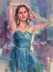 No Longer Alone by Anna Razumovskaya -  sized 18x24 inches. Available from Whitewall Galleries