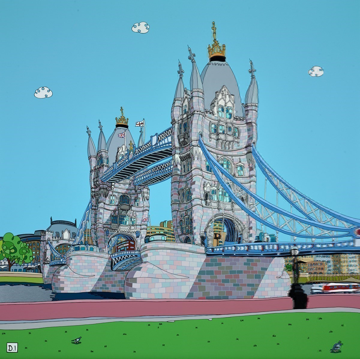 Somewhere Nice, Tower Bridge by Dylan Izaak -  sized 36x36 inches. Available from Whitewall Galleries