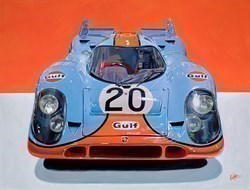 Steve McQueen's 1969 Porsche 917 K by Roz Wilson -  sized 34x26 inches. Available from Whitewall Galleries