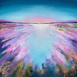 Sunrise II  by Anna Gammans -  sized 24x24 inches. Available from Whitewall Galleries