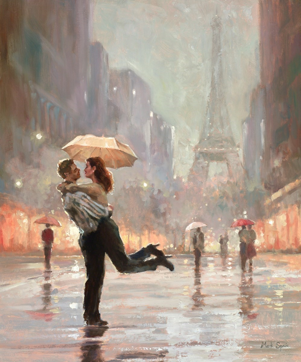 Dancing in the Rain by Mark Spain -  sized 20x24 inches. Available from Whitewall Galleries