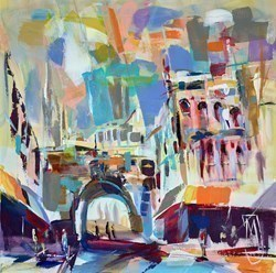 Mitre Pub II by Marijus Jusionis -  sized 24x24 inches. Available from Whitewall Galleries