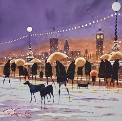 Embankment Snow by Peter J Rodgers -  sized 20x20 inches. Available from Whitewall Galleries