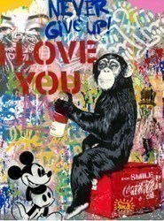 Everyday Life by Mr Brainwash - Original on Paper sized 22x30 inches. Available from Whitewall Galleries