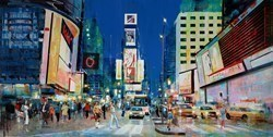 Big Apple Nightlife by Torabi -  sized 59x30 inches. Available from Whitewall Galleries