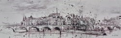 Ile Saint Louis, Paris by Tim Steward -  sized 43x14 inches. Available from Whitewall Galleries