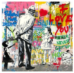Caught Red Handed by Mr Brainwash - Original on Paper sized 22x22 inches. Available from Whitewall Galleries
