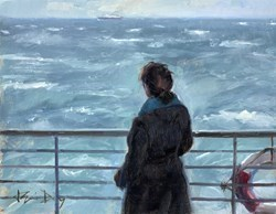 Distant Ship by Kevin Day -  sized 14x11 inches. Available from Whitewall Galleries