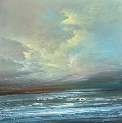 Morning Blue I by Philip Raskin -  sized 12x12 inches. Available from Whitewall Galleries